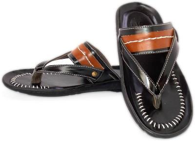 Gorav Boys Black Sandals
