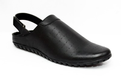 El Paso Men Black Sandals