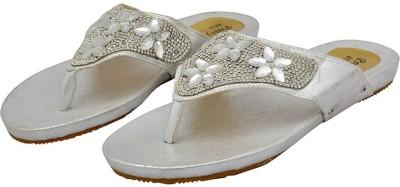 Shopaholic Fashion Women Silver Flats