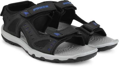 Power Men BLACK Sandals at flipkart