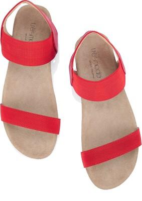 Tresmode Jescool-4 Women Red, Beige Flats