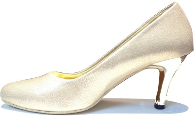 La Chic Pick Women Gold Heels
