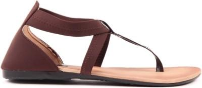 Lyc Brown Sandal Women Brown Flats