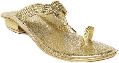 Foot Jewel Low Gold Women Gold Flats