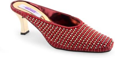 Aashka Women Maroon Heels