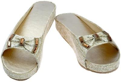 Fashion Bytes Women Gold Heels