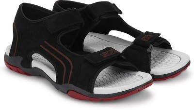 Cozy Men Black, Red Sandals