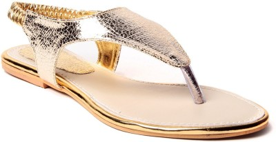 Unique Selection Women Gold Flats