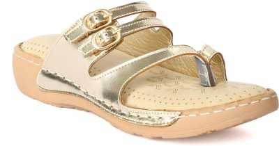 Tic Tac Toe Women Gold, Gold Flats