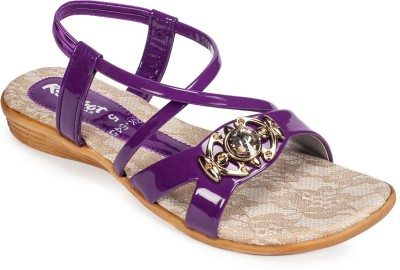 Rajdoot Women Purple Flats