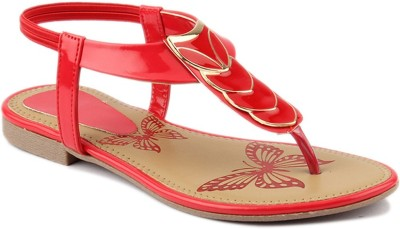 Wellworth Women Red Flats