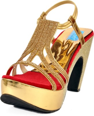 Soby Girls Red, Gold Heels