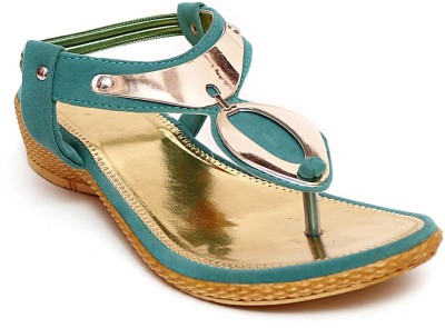 Zohra Collection Women Green Wedges