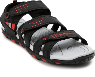 Speed Men Black, Red Sandals