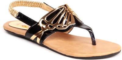 Ignis Butterfly Buckle Women Black Flats