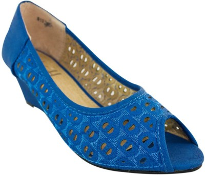 Heels & Handles Women Blue Wedges