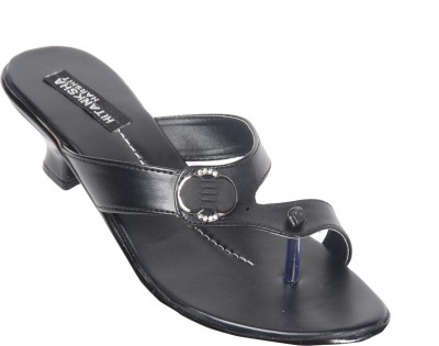 Hitansh India Women Black Heels