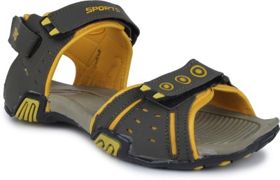 Tannis Men Olive, Yellow Sandals
