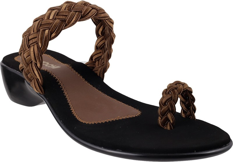 Mochi Women Brown Flats