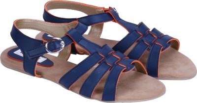 Soft & Sleek Girls Blue Sandals