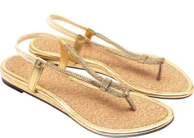 Royal Collection Women Gold Flats
