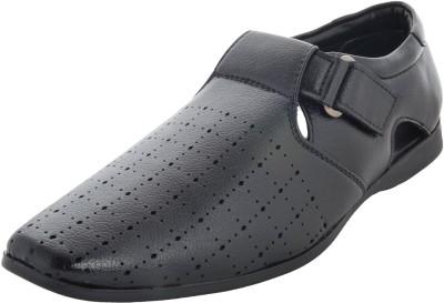 Auburn Men Black Sandals