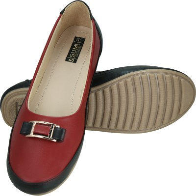 SUMI Collections Women Burgundy Flats