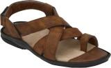 Azzaro Black Men Camel Sandals