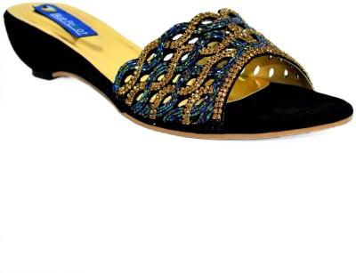 Blue Parrot 6232 Black Women Black Wedges