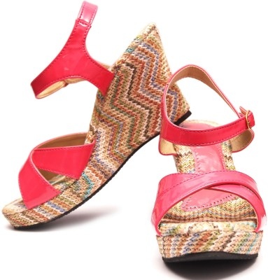 V3 Women Pink Wedges