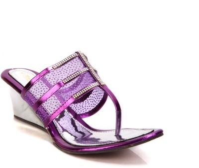 Laila Collections 808 Women Purple Wedges