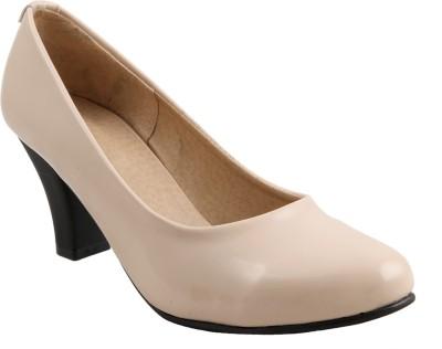 Adorn Women Beige Heels