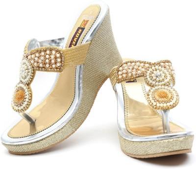 Rover Women Gold Wedges