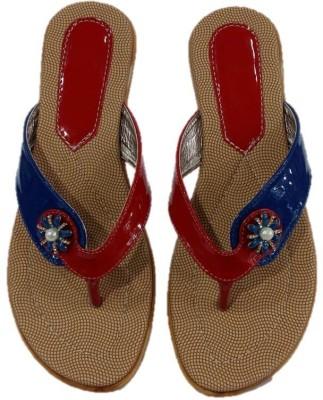 Pinki Shoes Women Red, Blue Flats
