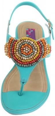 Moda Brasil Women Blue Heels