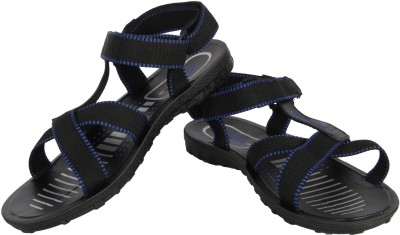 Vivaan Footwear Pu Men Black, Blue Sandals