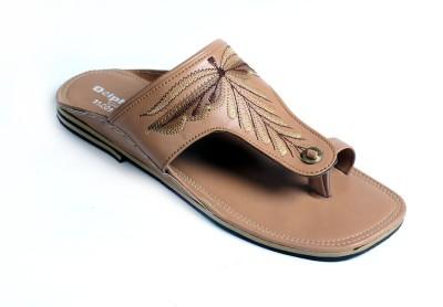 Dolphin Miles Kolhapuri Men Beige Sandals