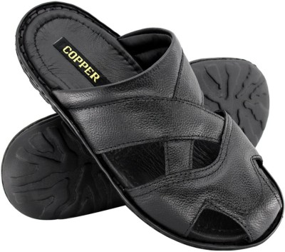 Copper C-8485 Men Black Sandals