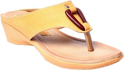 Zohra Collection Women Yellow Wedges