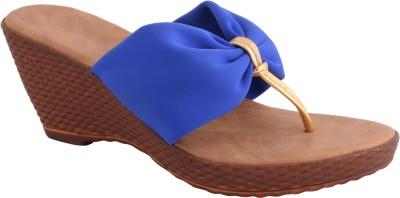 Strap up Women Blue Wedges