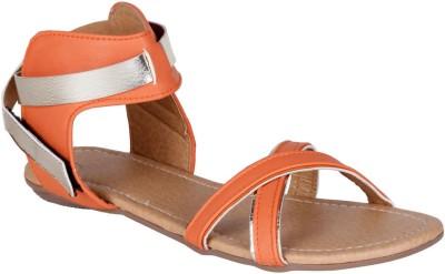 Lovely Chick Women Orange Flats