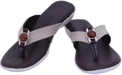 HITANSH INDIA Women Brown Flats
