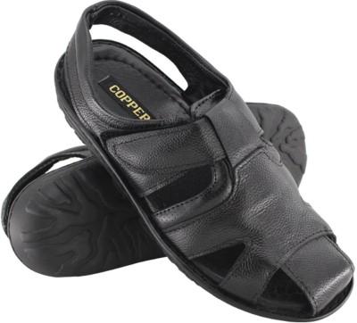 Copper C-7253 Men Black Sandals