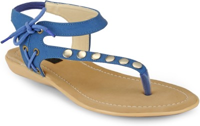 Something Different Women Beige, Blue Flats