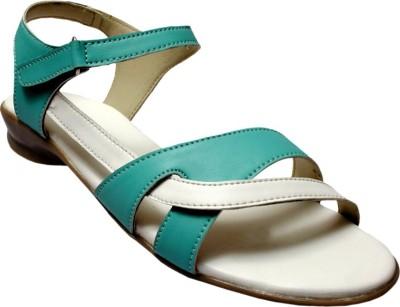 Bon Taff Women, Girls Green, White Flats