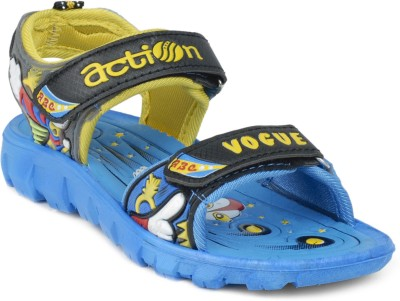 Action Shoes KS-123 Boys, Girls Blue, Yellow Sandals