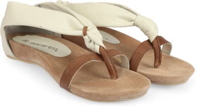 Womenz Collection Women White, Tan Flats
