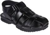 Luckyman Men Black Sandals