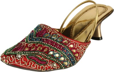 Saashiwear Women Gold Heels
