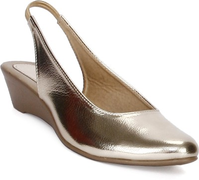 Tic Tac Toe Women Gold, Gold Wedges